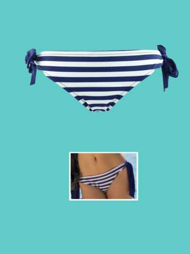 Navy//White Bikini Bottoms Pour Moi? BroadWalk Tie Side Brief Size 14 or 16