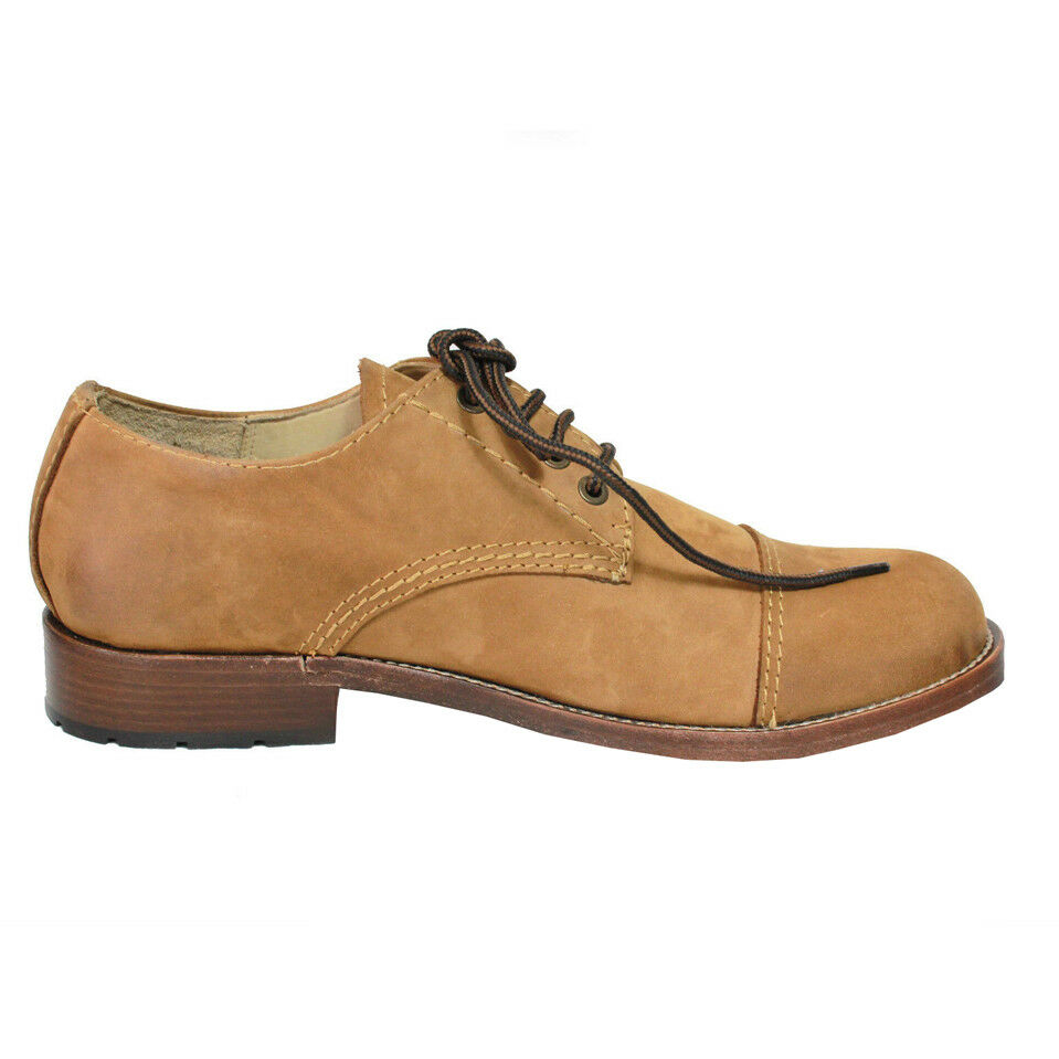 KJORE PROJECT  scarpa uomo nabuk cuoio mod BROWN STRING 100% pelle MADE IN ITALY