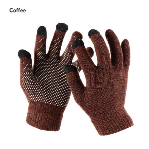 Gifts Non-slip Warm Gloves Wool Knitted Full Finger Mittens Touch Screen