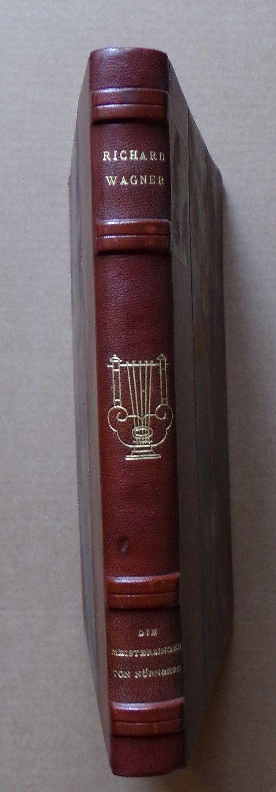 §- livre die Meistersinger von Nürnberg Wagner - Karl Tausig - Schott's Söhne