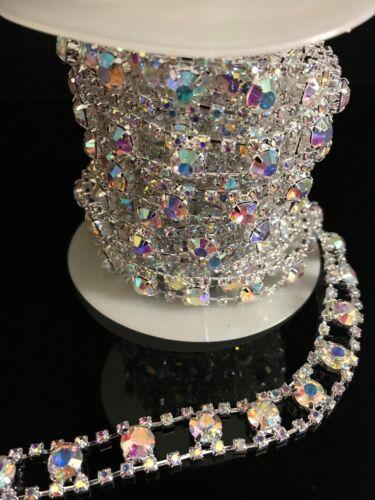 DIAMANTE GLASS TRIMMING RHINESTONE BEST QUALITY BRIDEL TRIM