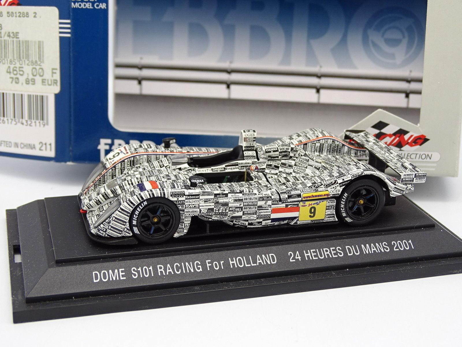 Ebbro 1 43 - - - Dome S101 Racing für Holland Le Mans 2001 Nr.9 c32dfe