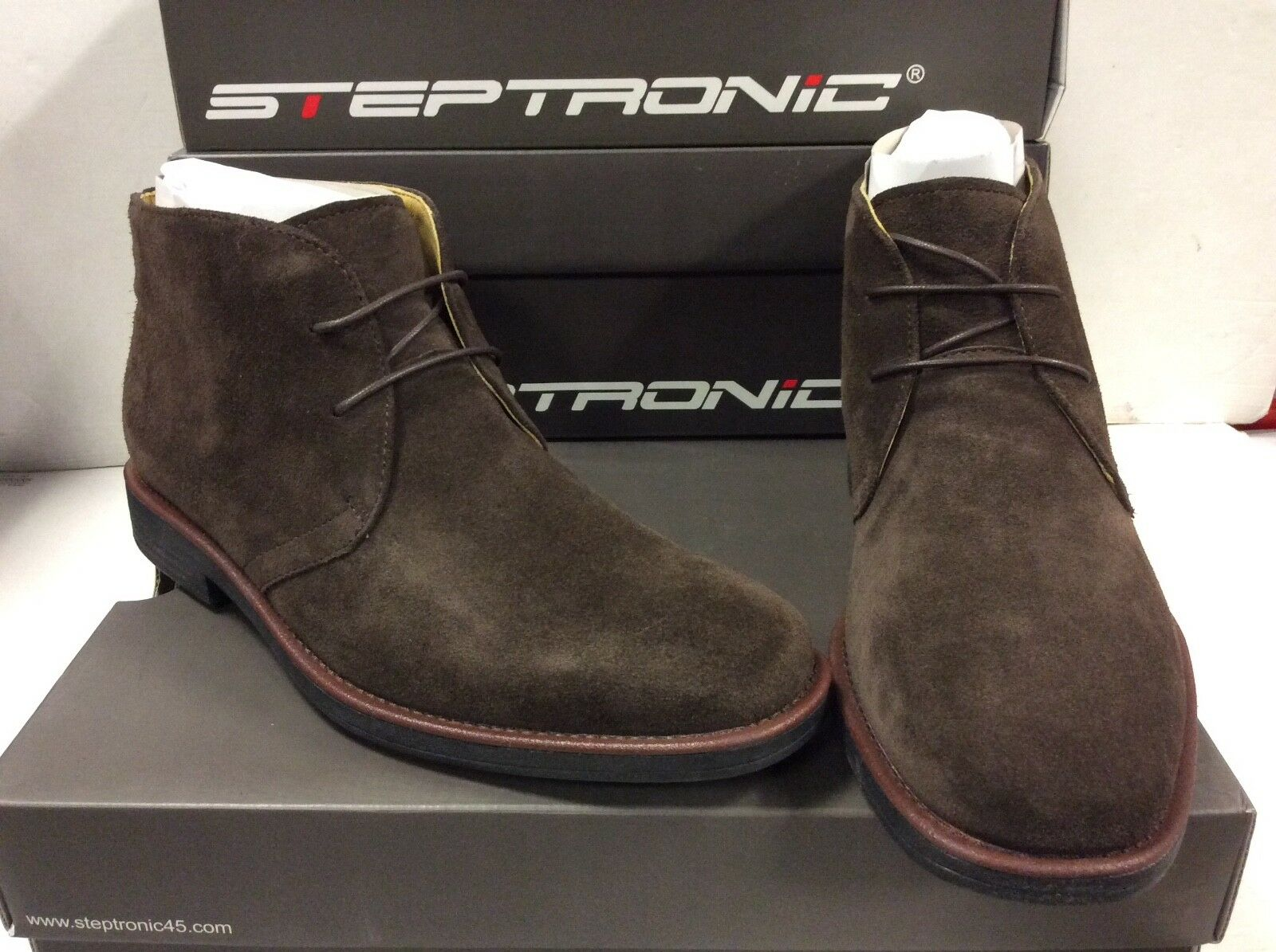 Steptronic Alfa Suede Leather Lace Up Mens Boots shoes, Size UK 6   EUR 40