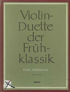 Violin-Duette-der-Fruehklassik-Band-2-herausgegeben-von-Paul-BORMANN
