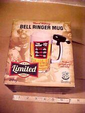 BELL Ringer Beer Mug with Bicycle Bell 20 oz.Glass Mug W/box WEMBLEY LIMITED NIB