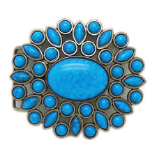Vintage Western Indian Turquoise Belt Buckles Gemstone Native American Jewelry