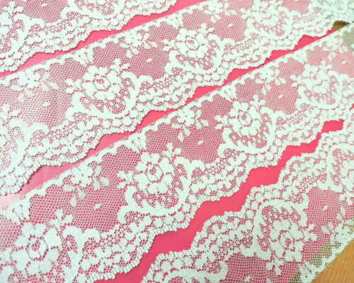 """IVORY Lace Trim 2+1//4/"""" wide 10 yds ~ GoRGeOUS ViNTaGE LaCE ~ made in U.S.A."""
