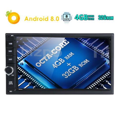 """Newest Android 8.0 PX5 Octa Core 4GB RAM Double Din 7/"""" Touchscreen Car GPS Radio"""