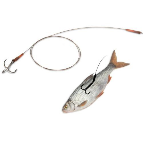 Quantum Stahlvorfach Rig montiert Mr.Pike Float Rig Leader camou