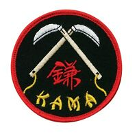 Double Kama Martial Arts Patch - 3 P1192