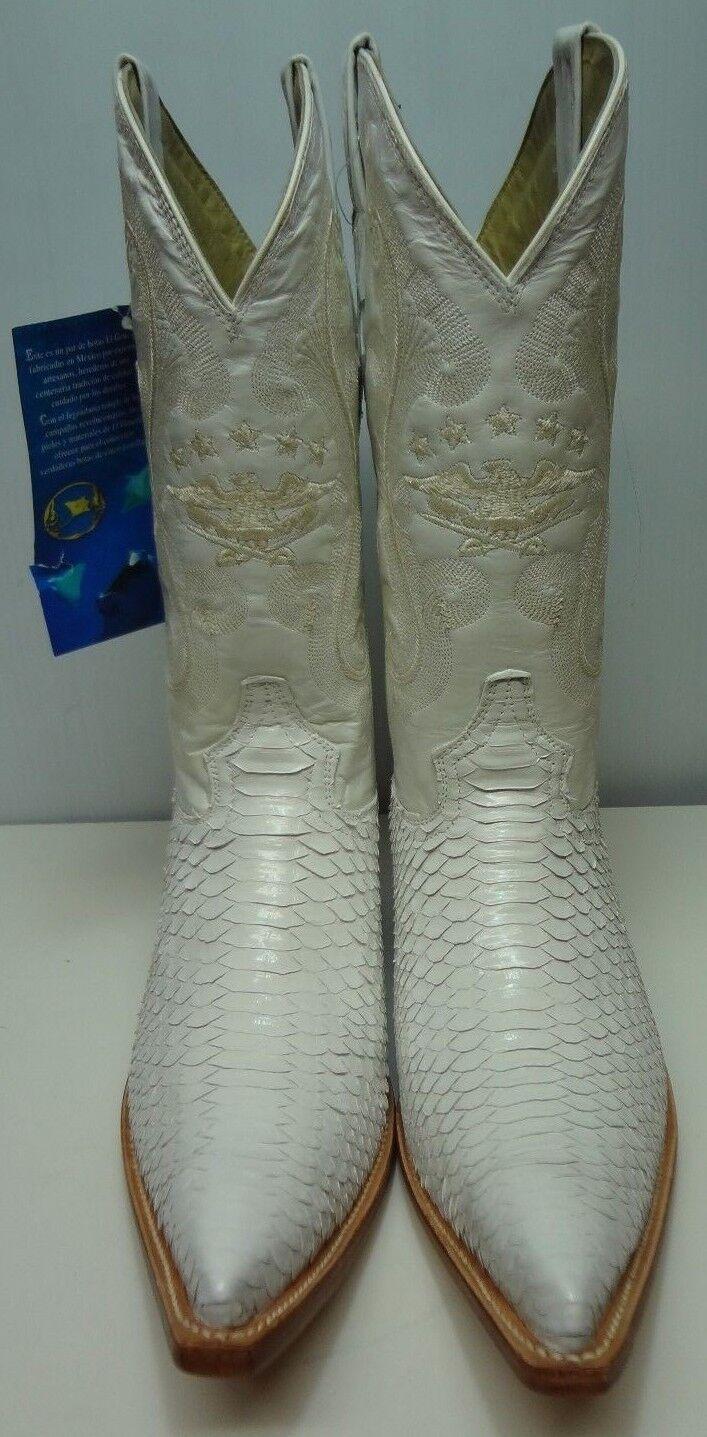 Nuevo Para hombres Cuero Genuino Piel de serpiente real python botas De Vaquero Rodeo Occidental C262