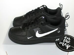 Details about Nike Air Force 1 AF1 LV8 Utility Black White AR1708-001 UK 3  4 5 6 US New