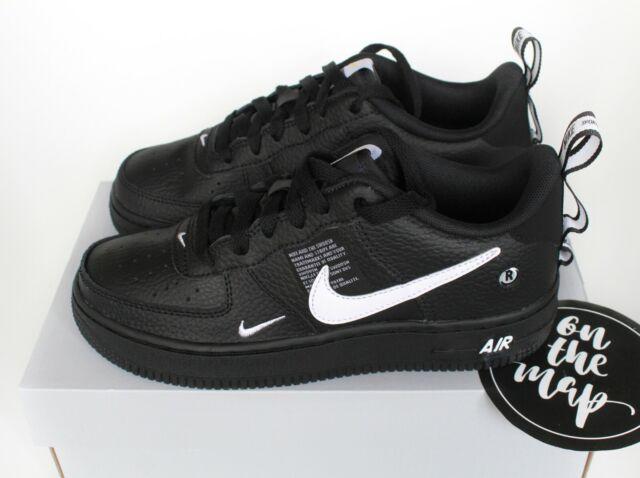 Nike Air Force 1 af1 lv8 Utility schwarz weiß ar1708 001 UK 3 4 5 6 US NEU