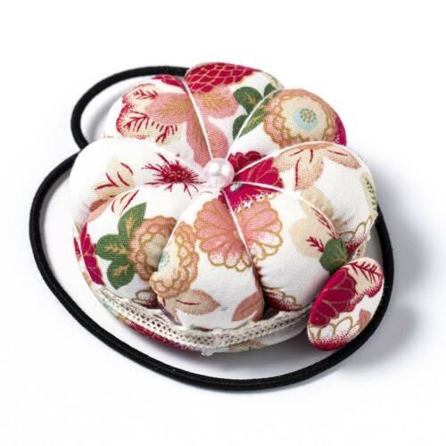1X Pumpkin Needle Pin Cushion Holder Wrist Pincushion Craft Sewing Supplies Tool