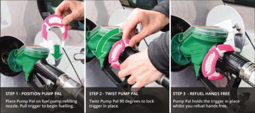 Pump Pal Petrol Diesel Pump Gadget Fill Up the Your Tank Hands Free PINK