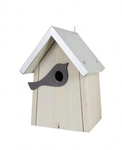 Vogelhaus Nistkasten Kiefernholz cool-gray 2c zum Aufhängen