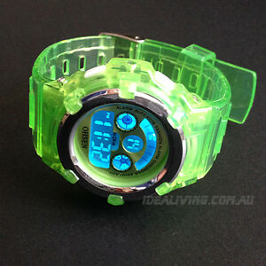 OHSEN-digital-Watch-for-boys-girls-Kids-Green-Alarm-cool-easy-to-tell-time