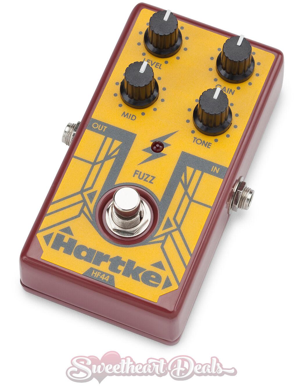 Hartke HF44-Bass Fuzz Distorsión Guitarra Guitarra Guitarra Efectos Analog Pedal e04955