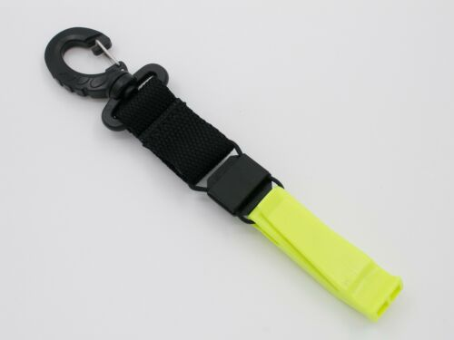 Yellow Color OTG Scuba Diving Safety Whistle with Mini Compass #OG-185YL