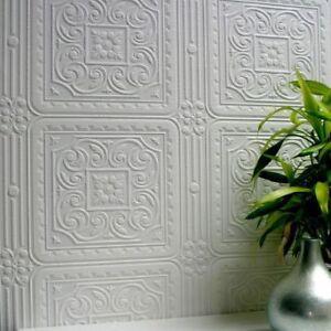 Wallpaper Flower Floral Paintable Amber Luxury Textured Vinyl Embossed Anaglypta