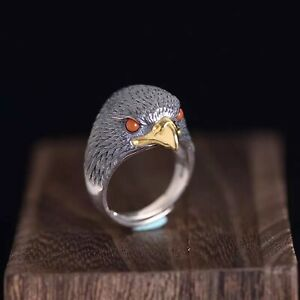 Solid 925 Sterling Silver Hallmarked Mens Heavy Eagle Claw Ring Adjustable Size