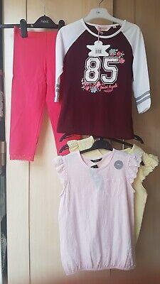 Bnwt Ragazze 4 Pezzo Estate Bundle, 3x Light Estivi T-shirt Tops & Leggings 7-8yrs-mostra Il Titolo Originale