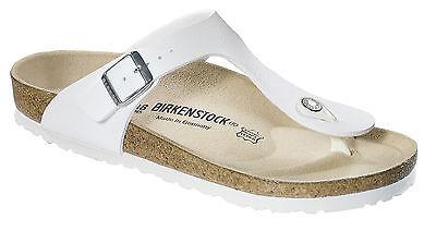 Birkenstock Birko Flor Gizeh Blanco Mate Nuevo Y En Caja 043731 0437 33 | eBay