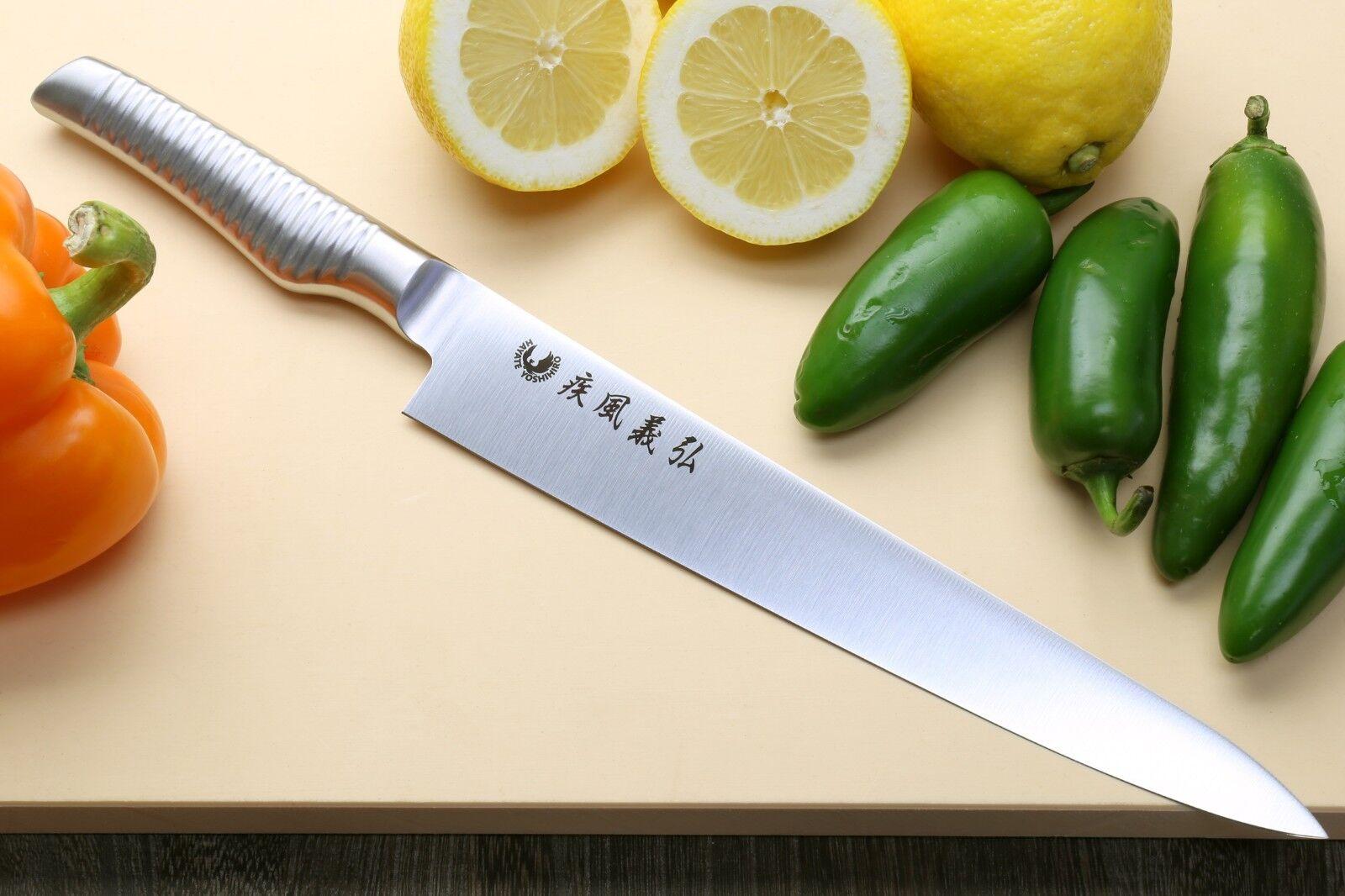 Yoshihiro INOX Stain Resistant Aus-8 Sujihiki Slicer Chef knife