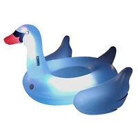 Swimline Giant Inflatable Transparent Led Light-up Ride-on Swan Float   90702 on sale