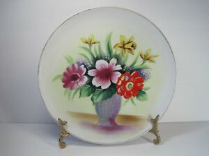 Vintage-Hand-Panted-FloralGold-Accent-Dinner-Plate