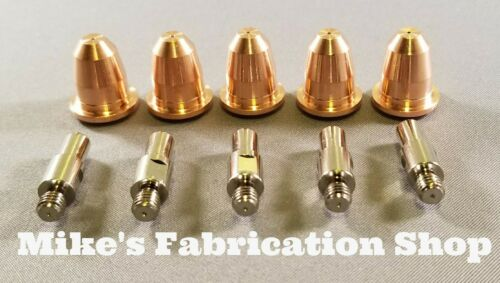 10 Piece pipe tip set for Longevity Force 40D plasma cutter 40amp  S45 torch