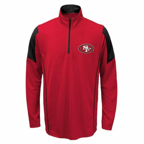 Outerstuff Youth NFL San Francisco 49ers Lightweight 1//4 Zip Pullover