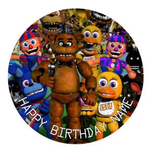 Five Nights at Freddys Personalised Edible Birthday Cake ...