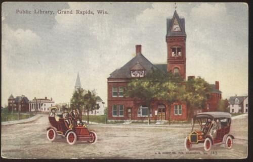 POSTCARD Public Library GRAND RAPIDS WI 1907