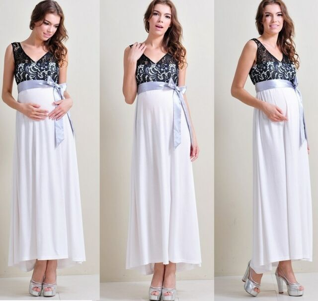 Maternity Evening dress,Baby Shower Wedding Party Pregnancy Gown dresses Maxi B