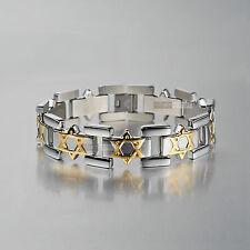 Silver gold Chain stainless steel bracelet star pattern