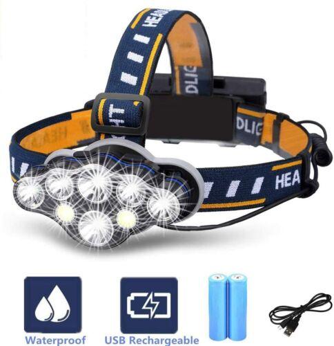 Lampe Frontale VORRINC Super Lumineuse LED Rechargeable Headlight Lampe Étanche