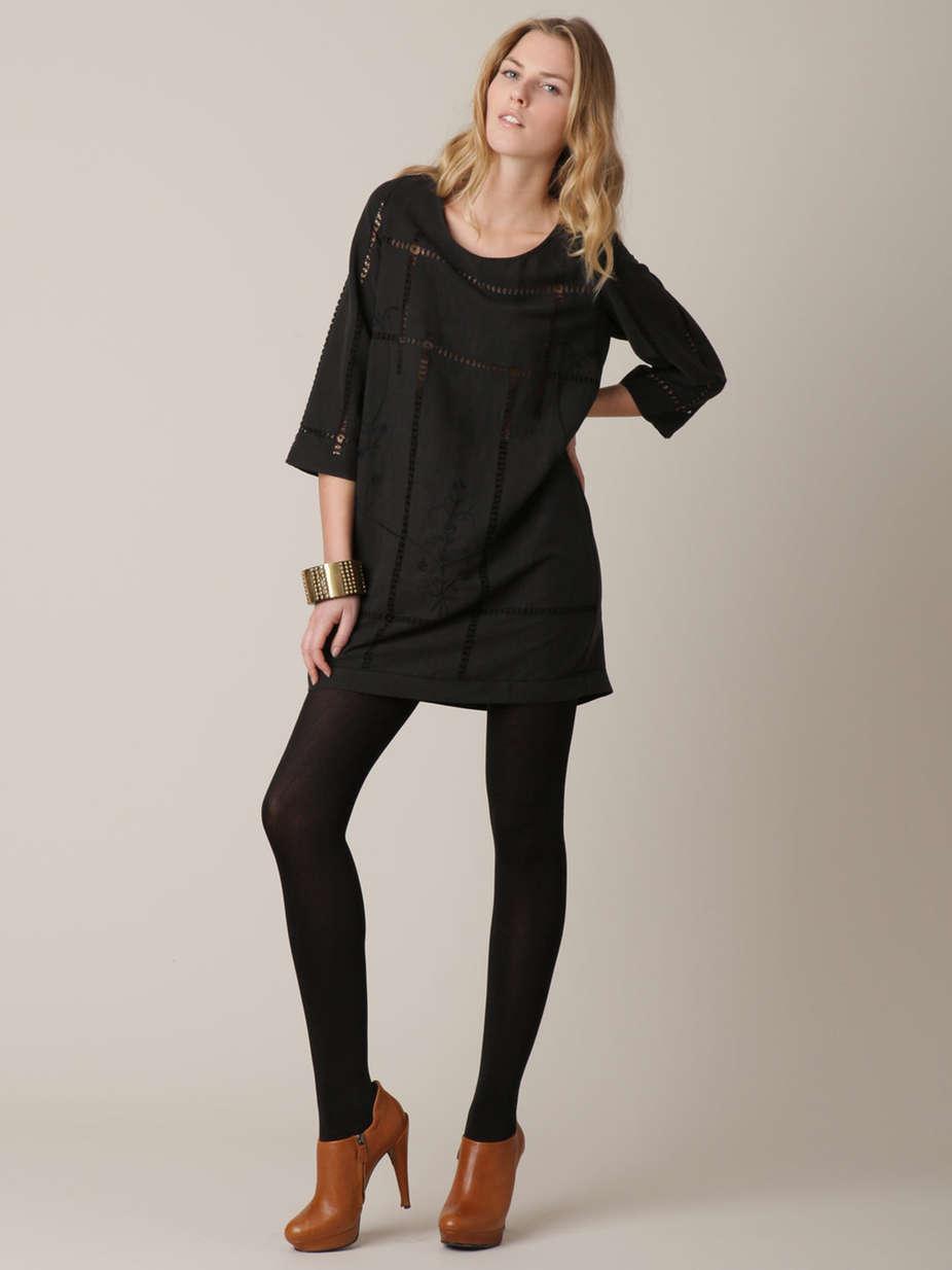 Alice Ritter - Embroiderot Silk Linen Shift Dress - 4   totokaelo la garconne