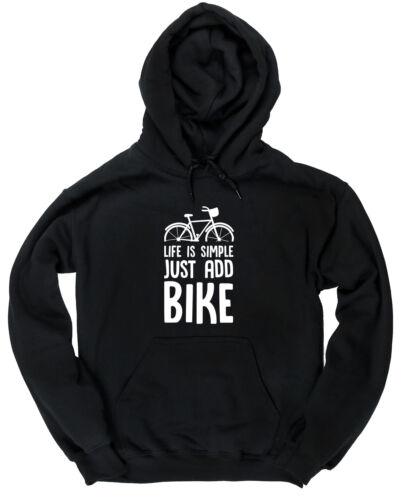 La vie est simple juste ajouter Vélo Enfants Unisexe à Capuche Haut à Capuche