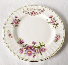 Royal Albert flor del mes de septiembre plato de ensalada 8 1/4 Pulgadas - 1st Calidad