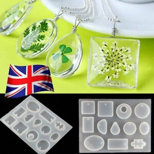 Silicone-Pendant-Mold-Making-Jewelry-For-Resin-Necklace-Mould-Craft-DIY-Tool-UK
