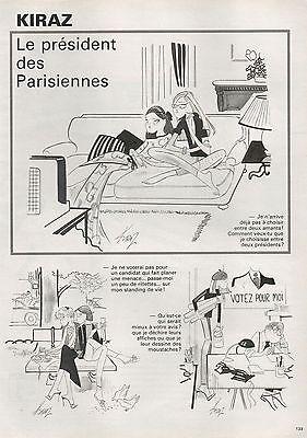 Collectibles Intellective ▬► Dessin Humoristique Kiraz Le Président Des Parisiennes 1981 Latest Fashion