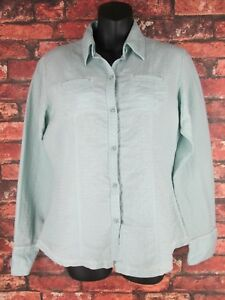 The North Face Women's Medium M Blouse Shirt Button Front Long Sleeve Top