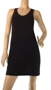 EQUIPMENT-SIZE-6-BLACK-FULLY-LINED-CREPE-SHIFT-DRESS