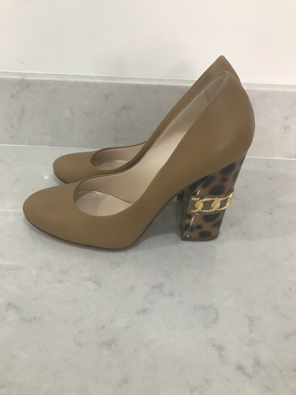 CASADEI schuhe With Leopard Heel Größe Größe Größe UK4  IT 37 ad493e