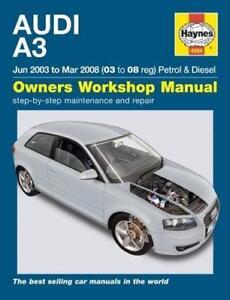 haynes audi a3 8p 03 08 sportback fsi tfsi se owners service rh ebay co uk Audi A3 Sportback Interior Audi S1