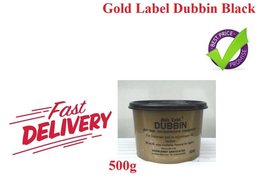 oro Label Dubbin Impermeabile & softner Nero 500g