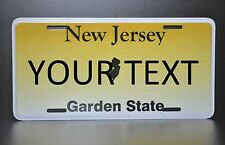 US AUTO USA CAR NEW JERSEY STATE LICENSE PLATE Kennzeichen Nummernschild Schild