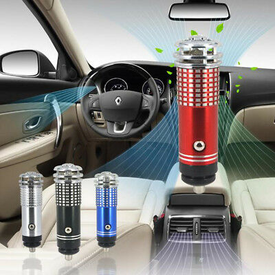 Universal Black Oxygen Bar Car Fresh Air Ionic Purifier Ozone Ionizer Cleaner
