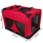 Extra Large Portable Soft Pet Dog Crate Cage Kennel Blue 600d Polyester 5 Panels
